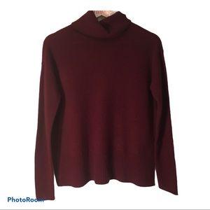 Cashmere turtleneck, cranberry colour, NWT